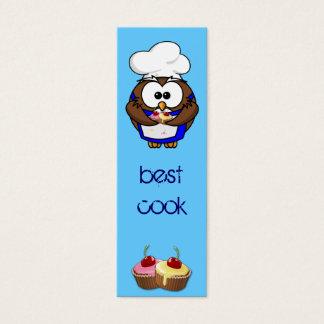 cupcake chef owl mini business card