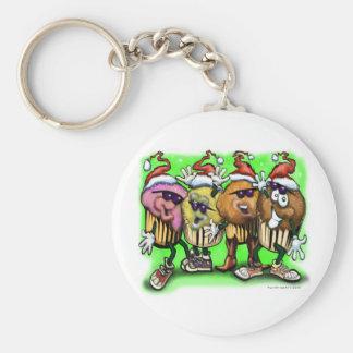 CupCake Christmas Basic Round Button Keychain