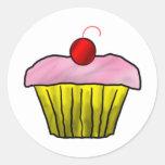 Cupcake Classic Round Sticker