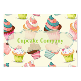 Cupcake Company Tarjetas De Visita Grandes