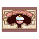 Cupcake Confections Vintage Style Business Card