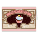 Cupcake Confections Vintage Style Greeting Cards