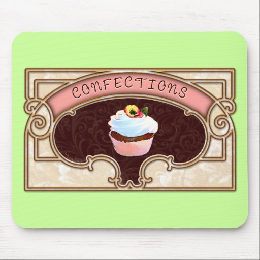 Cupcake Confections Vintage Style Mousepad