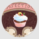 Cupcake Confections Vintage Style Stickers