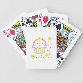 CUPCAKE CORNER APPLIQUE BICYCLE PLAYING CARDS
