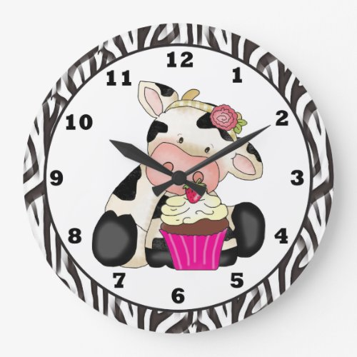 Cupcake Cow clock