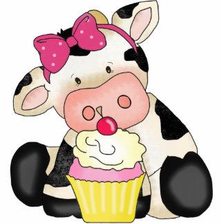Cupcake Cow Sculpture Photo Cutout
