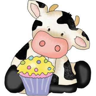 Cupcake Cow Sculpture Acrylic Cut Out