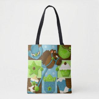 Cupcake Cowboy Diaper/Tote Bag