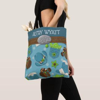 Cupcake Cowboy Personalized Diaper/Tote Bag