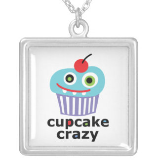 Cupcake Crazy Silver Plated Necklace
