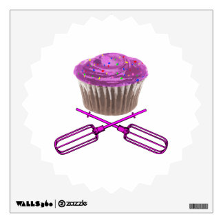 Cupcake & Crossbeaters Wall Decal