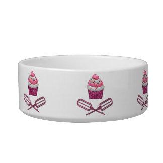 Cupcake & Crossed Beaters In Pink Bowl