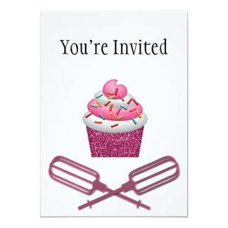 Cupcake & Crossed Beaters In Pink Card