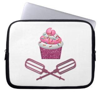 Cupcake & Crossed Beaters In Pink Laptop Sleeve