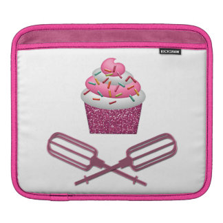 Cupcake & Crossed Beaters In Pink Sleeve For iPads