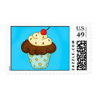 Cupcake Custom  Birthday Stamp
