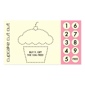 cupcake cut out punch cards