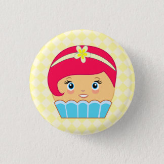 Cupcake Cute Kawaii Couture Blue Character Buttons