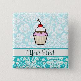 Cupcake; cute pinback button