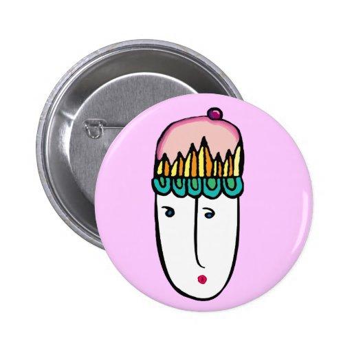 cupcake cutie pinback button