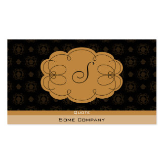 Cupcake Damask (Hot Cocoa) Double-Sided Standard Business Cards (Pack Of 100)