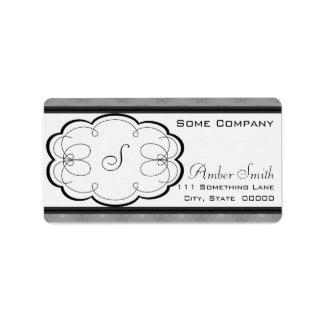 Cupcake Damask Set (Black And White) Label