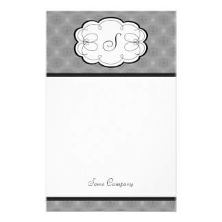 Cupcake Damask Set (Black And White) Stationery