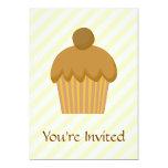 Cupcake. de Brown Invitación 12,7 X 17,8 Cm