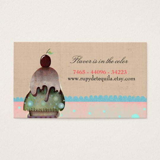 Cupcake delicious icecream Business Card