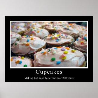 Cupcake Demotivational Style Poster