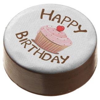 Cupcake Design Happy Birthday Chocolate Covered Oreo