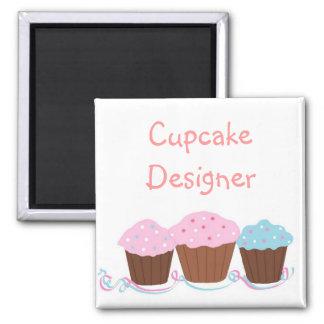 Cupcake Designer Fridge Magnets
