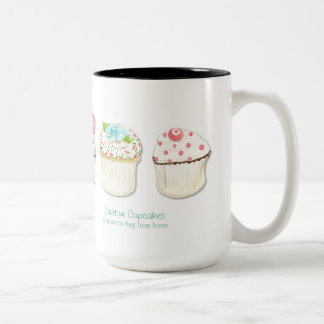 Cupcake Dessert Baking Bakery Business Identity Two-Tone Coffee Mug