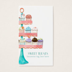Cupcake Dessert Baking Bakery Business Package Business Card at Zazzle