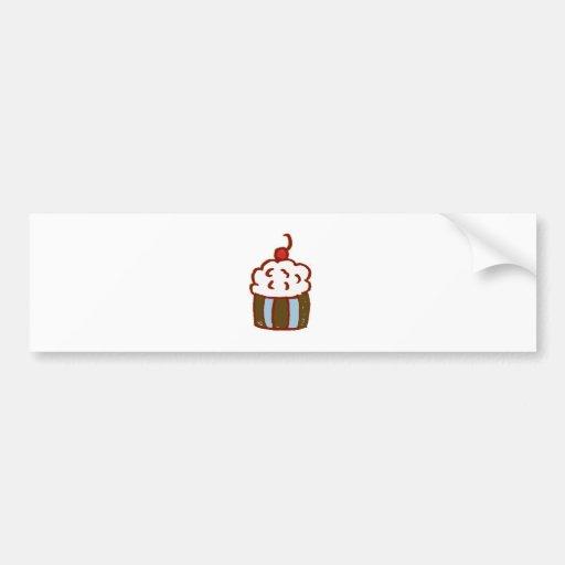 Cupcake Dessert Car Bumper Sticker