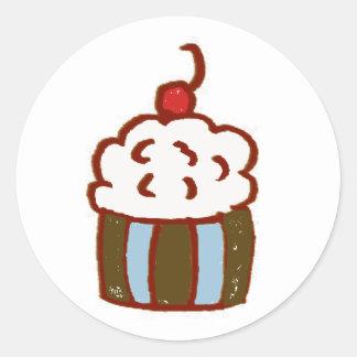 Cupcake Dessert Classic Round Sticker
