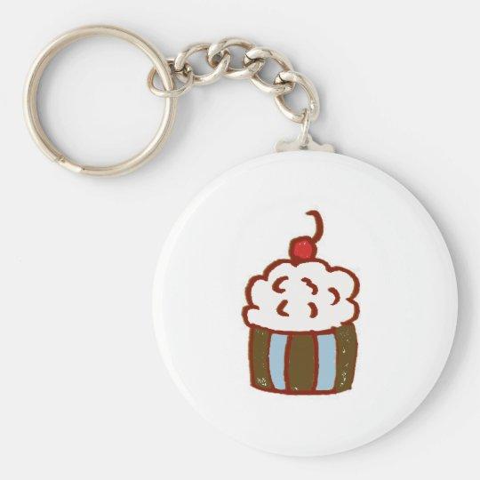 Cupcake Dessert Keychain