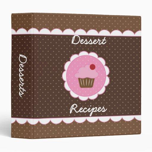 Cupcake Dessert Recipe Binder