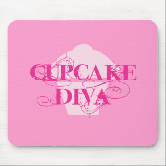 Cupcake Diva Mouse Pad