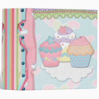 Cupcake Dreams Recipe Notebook Binder