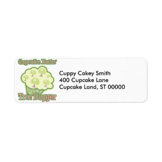 Cupcake Eating Tree Hugger Label