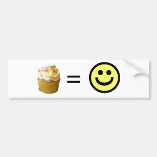 Cupcake Equals Happiness Bumper Sticker