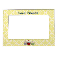 Cupcake family frosting sprinkles cherry cakes magnetic photo frame