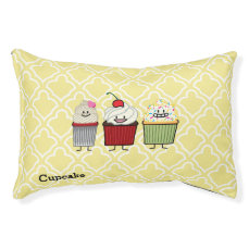 Cupcake family frosting sprinkles cherry cakes pet bed