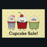 "Cupcake family frosting sprinkles cherry cakes yard sign<br><div class=""desc"">I love cupcakes! All shapes and sizes,  chocolate is my favorite with sweet icing and sprinkles. which one is your favorite? Thank you for looking at Happy Foods Designs!</div>"