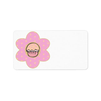 Cupcake Flower Label