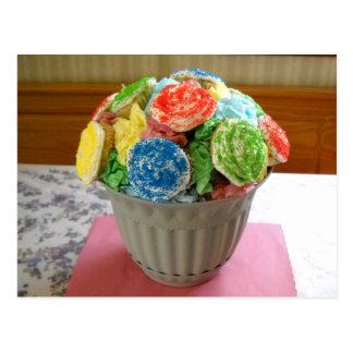 Cupcake Flowerpot Postcard