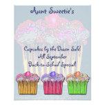 Cupcake Flyer de tía Sweetie Tarjetas Informativas