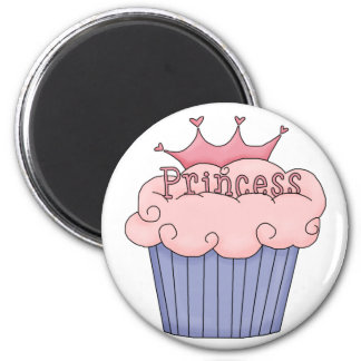 Cupcake For A Princess 2 Inch Round Magnet